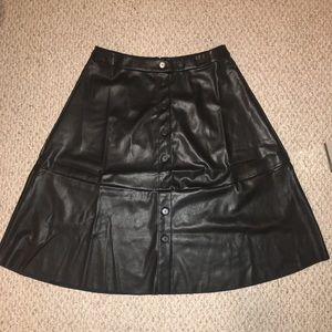Eloquii Faux Leather Black Full Skirt Size 18